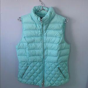 Talbots Light Blue puffer vest